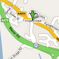 Tongwynlais Map